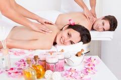 Para cieszy się tkanka plecy masaż Obraz Royalty Free