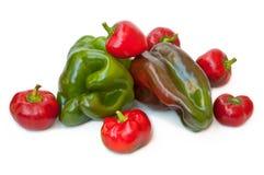 Para comer sano: pimientas Imagenes de archivo