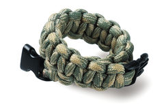 Para Cord Survival Bracelet Stock Photography