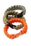 Para Cord Survival Bracelets Royalty Free Stock Photography
