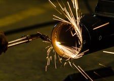 Para corte de metales con la antorcha del acetileno imagenes de archivo