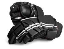 Para Czarne Lodowego hokeja rękawiczki, dalej fotografia stock