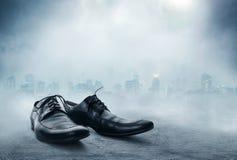 Para czarni męscy klasyków buty Obrazy Royalty Free