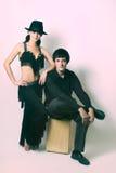 para czarny kostiumowi tancerze obrazy stock