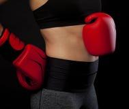 Para czerwone bokserskie rękawiczki Obrazy Royalty Free