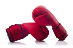 Para czerwone bokserskie rękawiczki Obrazy Stock