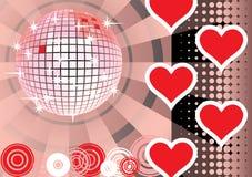 Para dar amantes cor-de-rosa partido. Fotos de Stock