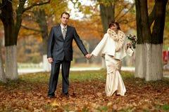 para dzień ich ślub Obrazy Royalty Free