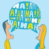 Para dzieli śmiech ilustracja wektor