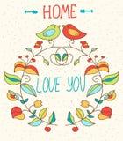 Para el día de tarjeta del día de San Valentín libre illustration