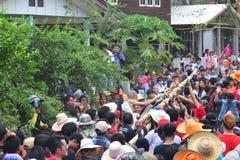 Para el desfile la tradición es naga cruel de la ceremonia de la ordenación Imagenes de archivo
