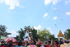 Para el desfile la tradición es naga cruel de la ceremonia de la ordenación Imagen de archivo libre de regalías