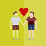 para facetów łóżku gejem dwa siedzenia Zdjęcia Royalty Free