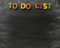 Para fazer a lista Imagem de Stock