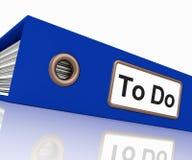 Para fazer o arquivo para tarefas de organização ilustração do vetor