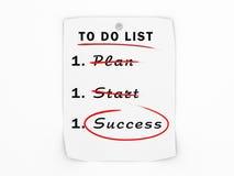 Para fazer o conceito do sucesso de negócio da lista Foto de Stock