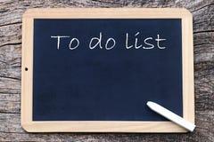 Para fazer o inglês da lista - escrito em um quadro-negro Fotografia de Stock