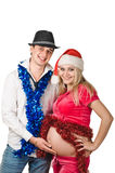 Para Feliz Año Nuevo que espera Imágenes de archivo libres de regalías