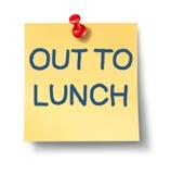 Para fora ao almoço ilustração do vetor