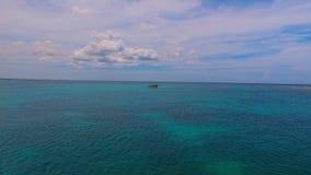 Para fora ao oceano, ilha de Tortuga, Venezuela filme