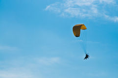 Para-glider in blue sky Stock Image
