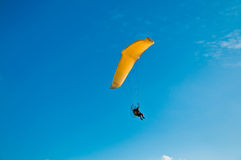 Para-glider in blue sky Stock Images