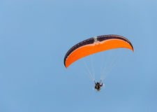 Para glider and blue sky. Day time Royalty Free Stock Image