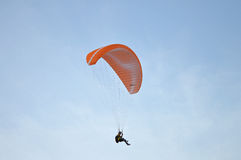 Para-glider. A Para-glider competing in the Santa Pola championship Royalty Free Stock Photo