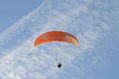 A Para-glider Flying High Royalty Free Stock Photography