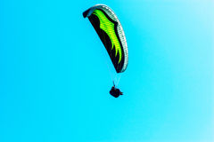 Para glider flying in the sky, free time spent actively, wonderf Stock Photo