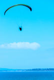 Para glider flying in the sky, free time spent actively, wonderf Stock Photos