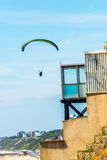 Para glider flying in the sky, free time spent actively, wonderf Royalty Free Stock Images