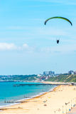 Para glider flying in the sky, free time spent actively, wonderf Royalty Free Stock Photography