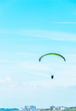 Para glider flying in the sky, free time spent actively, wonderf Stock Images