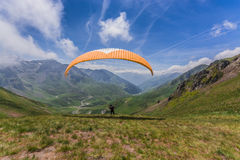 Para glider taking off Stock Image