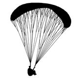Para glider. Useful Black Vector element. Royalty Free Stock Image