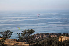 Para Gliders over Torrey Pines Royalty Free Stock Image