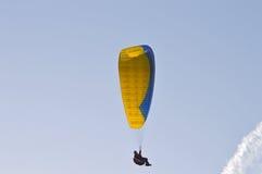 Para-gliding- Paraglider Parachute Flying Royalty Free Stock Image