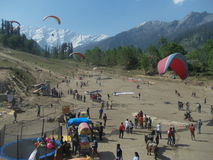 Para Gliding in Manali-III Stock Image