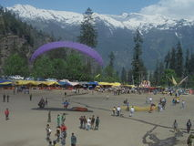 Para Gliding in Manali-V Stock Images