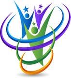 Para gwiazdowy logo royalty ilustracja