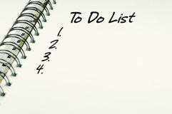 Para hacer el texto de la lista - concepto del negocio Fotografía de archivo