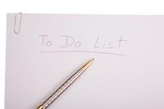 Para hacer la lista fotografía de archivo libre de regalías