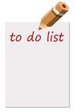 Para hacer la lista Foto de archivo