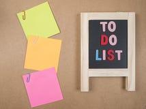 Para hacer la lista 1 Foto de archivo libre de regalías