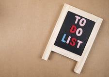 Para hacer la lista 2 Foto de archivo libre de regalías