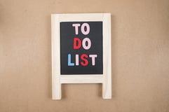 Para hacer la lista 4 Fotografía de archivo libre de regalías