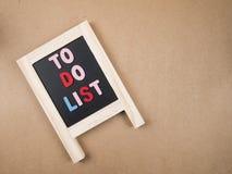 Para hacer la lista 5 Foto de archivo libre de regalías