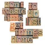 Para hacer la lista - consiga las cosas hechas Imágenes de archivo libres de regalías