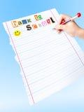 Para hacer la lista de nuevo a escuela Imágenes de archivo libres de regalías